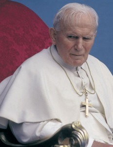 Blessed John Paul II, Pope from 1978-2005.