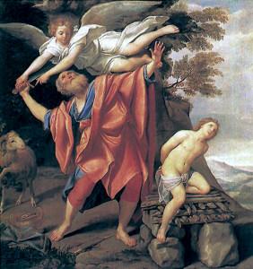 The Sacrifice of Isaac by Domenichino (1627/28) .