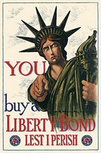 A poster encouraging citizens to trust and invest in their country's economic system (much like similar efforts today).