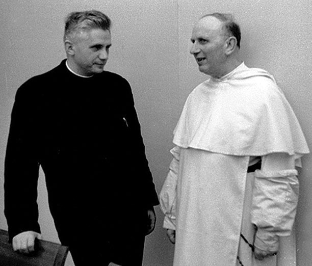 Joseph Ratzinger in 1965 with Yves-Marie-Joseph Cardinal Congar