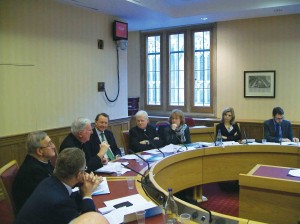 The first meeting of the day, on the morning of Thursday, November 15, at the House of Lords.