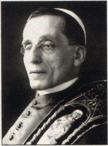 Pope Benedict XV (Pope during the First World War).
