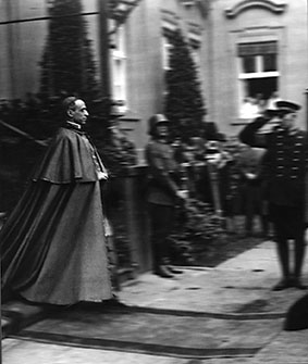 Bishop Eugenio Pacelli in Germany. He was sent to Berlin as nuncio to the newly-created German republic in 1925