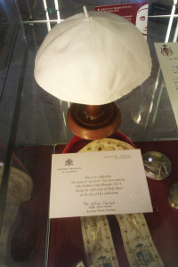 Benedict XVI's zucchetto.
