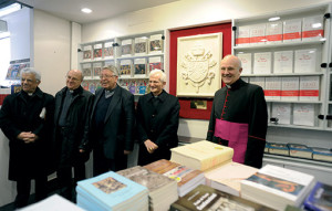 Msgr. Alfred Xuereb (right) during the presentation of the book Jesus of Nazareth by Pope Benedict XVI, published by LEV (Vatican Publishing House). (Katarzyna Artymiak photo).