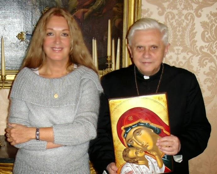 Vassula Rydén a kardinál Joseph Ratzinger