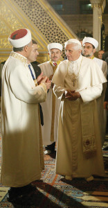 Benedict XVI visiting the Holy Land in 2009.