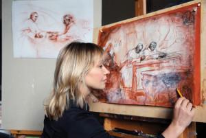 Natalia Tsarkova in her studio.