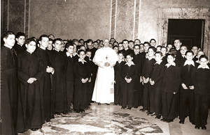 In 1946, Pope Pio XII granted an audience to Maciel and some of his early followers.