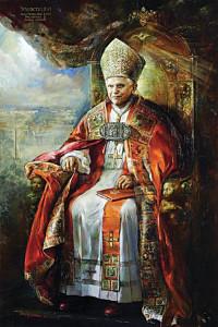 Portrait of Benedict XVI.
