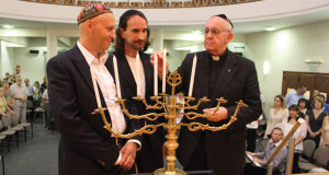 Bergoglio at a ceremony in a synagogue in Buenos Aires.