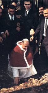 Paul VI visiting the Holy Land in 1964.