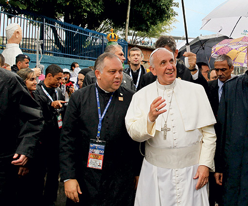 Pope Francis in Rio de Janeiro, July 2013.