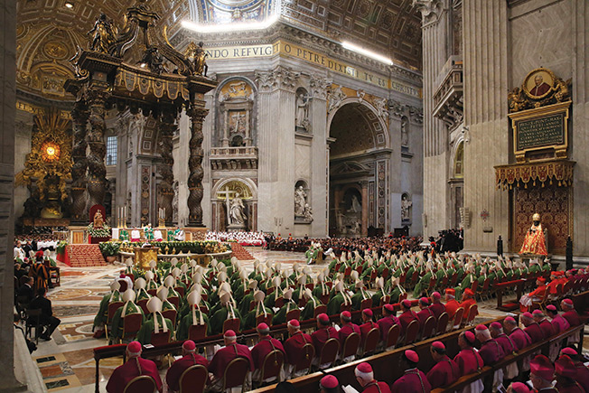 Holy Mass in St.. Peter's Basilica celebrated by Pope Francis with his new cardinals on February 23.