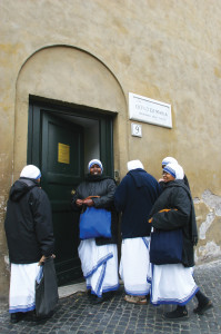Little Sisters of Charity who help the poor of Rome.
