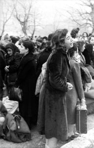 A scene of Jews in Greece being deported.