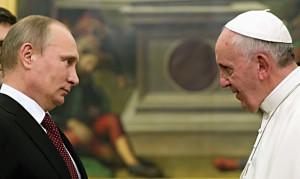 President Vladimir Putin and Pope Francis.