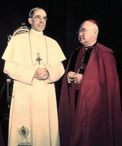 Pope Pius XII with the American cardinal Spellman.