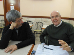 Luis Badilla Morales, from Chile, a journalist for Vatican Radio, Giuseppe Rusconi, correspondent for the paper Corriere del Ticino and Włodzimierz Redzioch during their conversation about the past year.