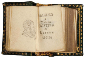 Galileo Galilei's Letter to Madama Cristina di Lorena believed to be the smallest book in the world.