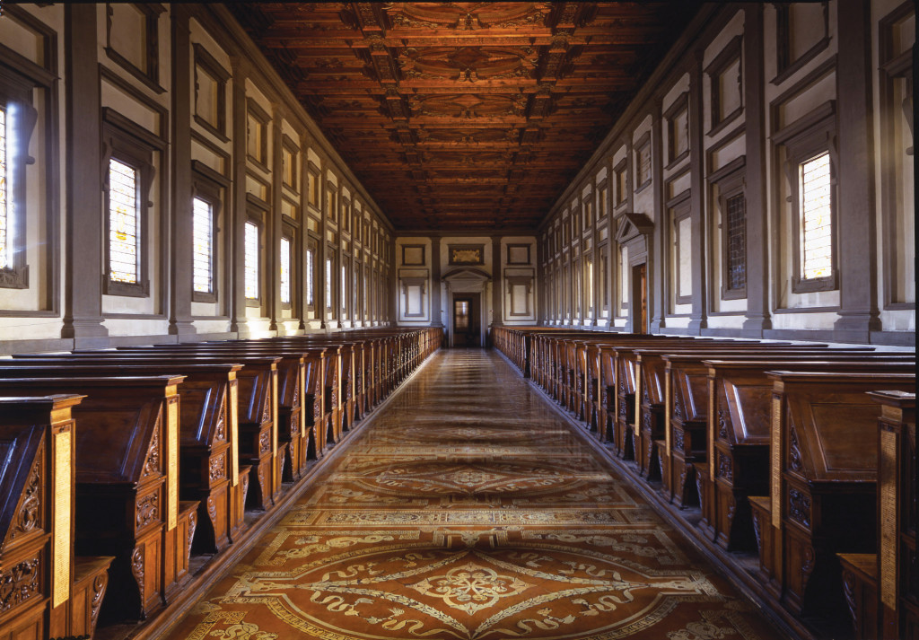 The reading room of the Laurentian Library opened to  the public on June 11, 1571.
