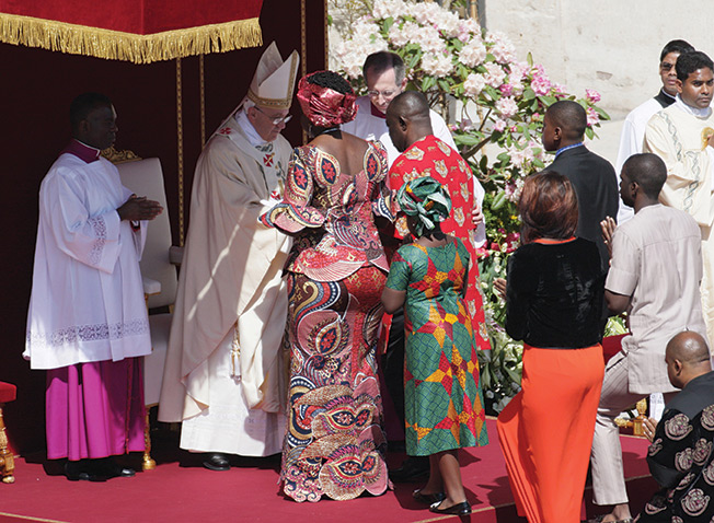 On Easter Sunday, gifts were brought by representatives of many nations.