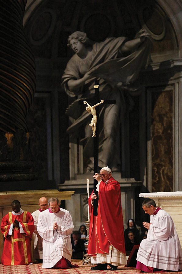 Pope Francis during Mass.