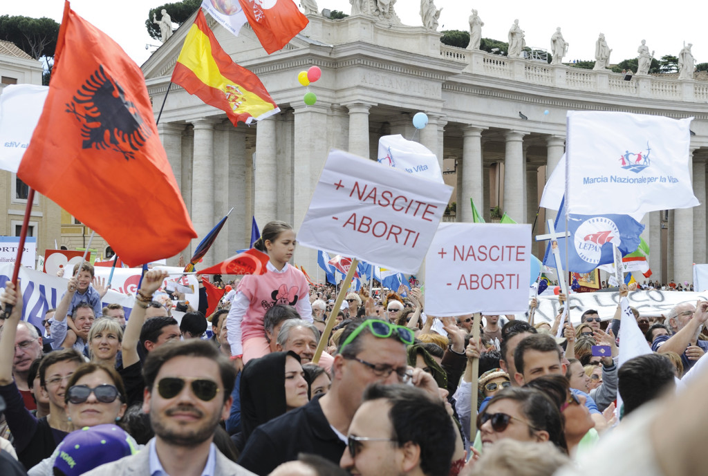 May 4 pro-life demonstration in St. Peter's Square.