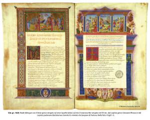 A bilingual manuscript of the Illiad.