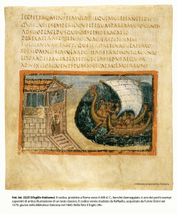 An illustrated  4th-century codex of Virgil.  Its illustrations were studied by Raphael.