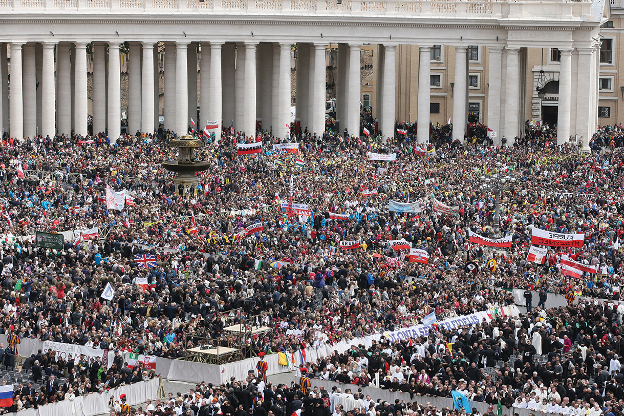 In the vast crowd which attended the canonization ceremony were men, women and children from every continent and many nations.