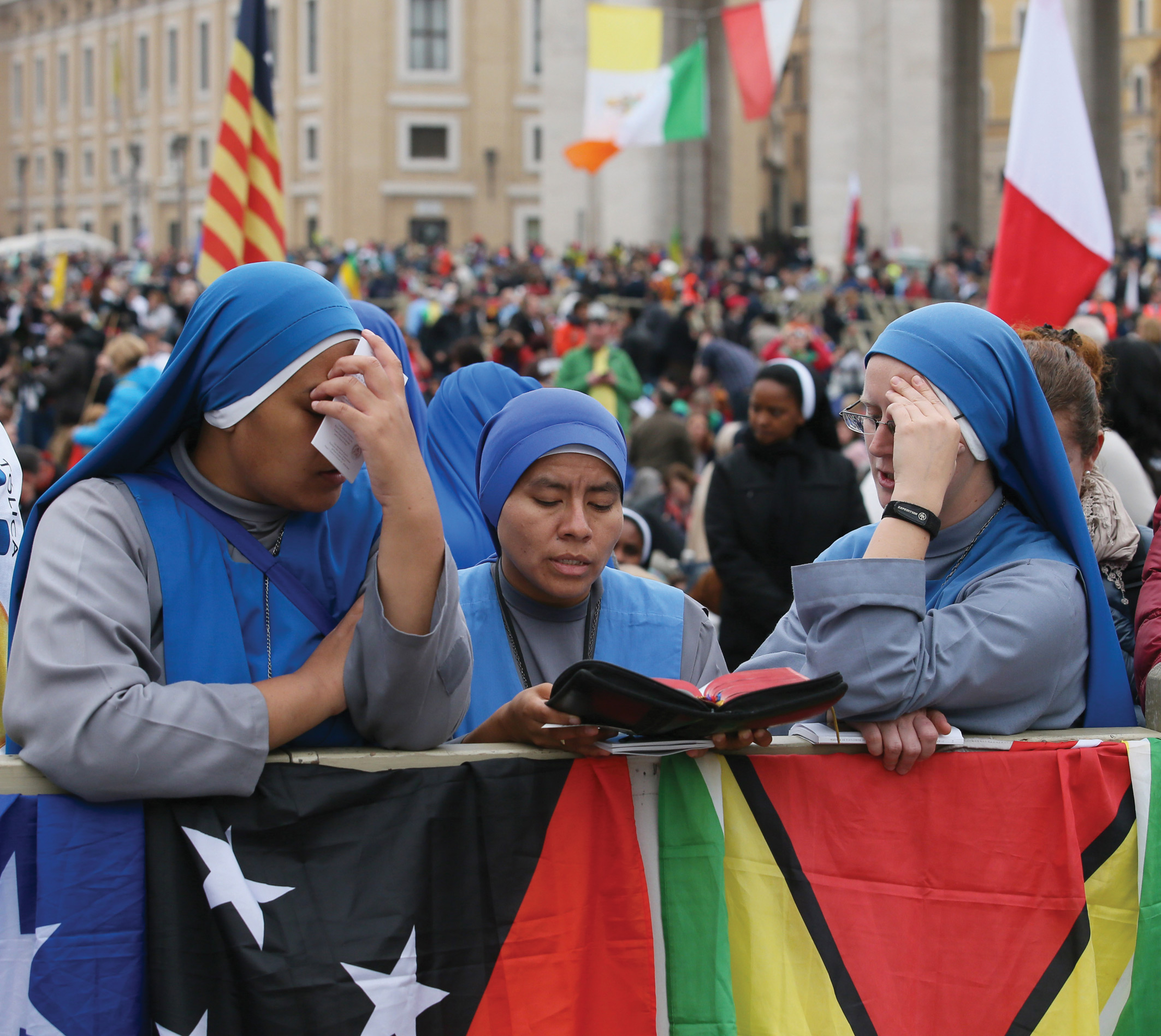 Pilgrims from every corner of the world joined at Saint Peter's square.