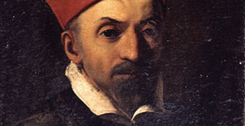Portrait of Cardinal Baronio by Caravaggio's School on loan from the Ufffizi Galleries  in Florence.