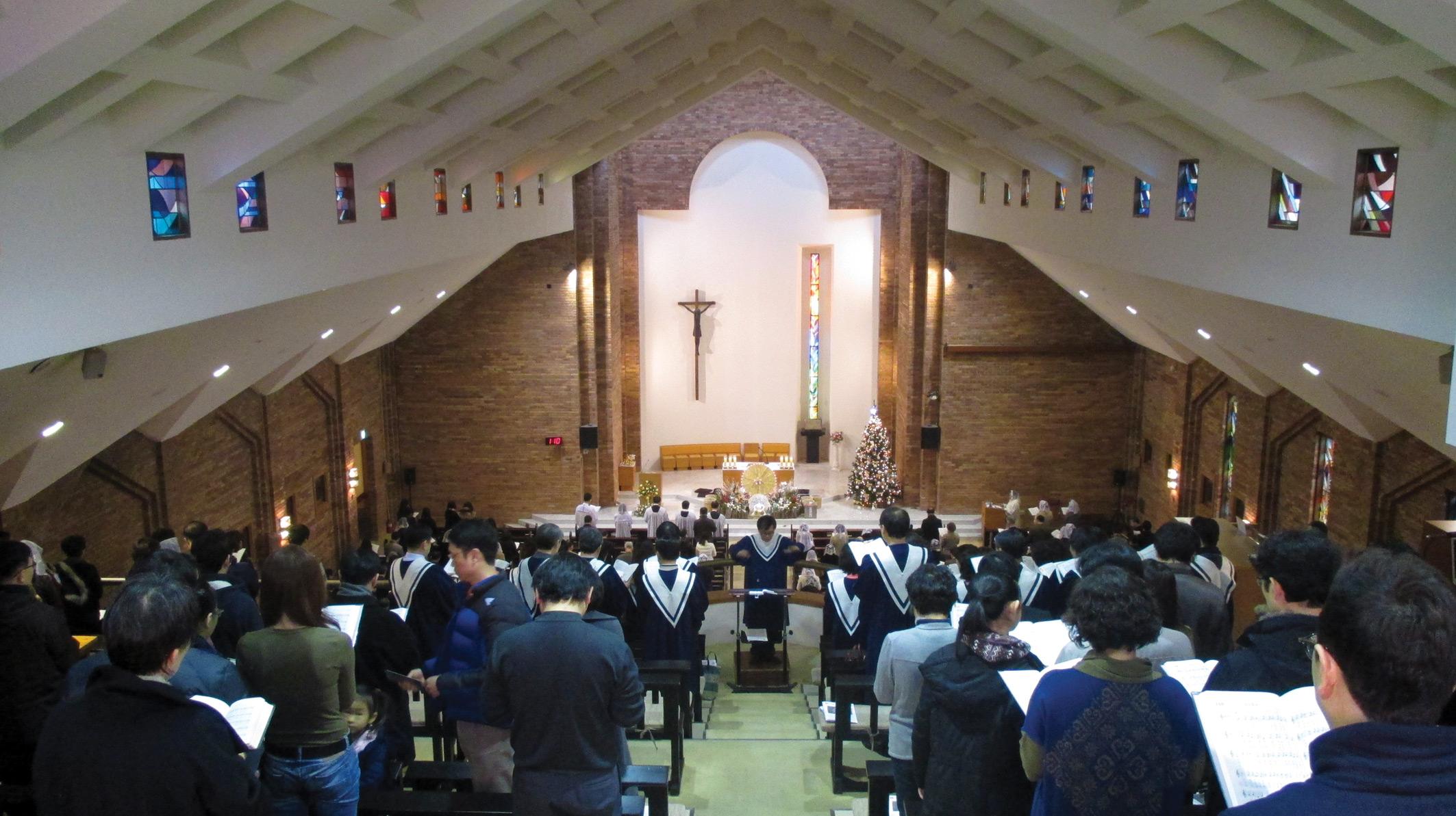 Mass in the church in Seoul South