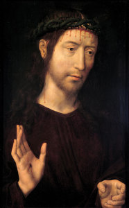 Christ Blessing, by Memling.