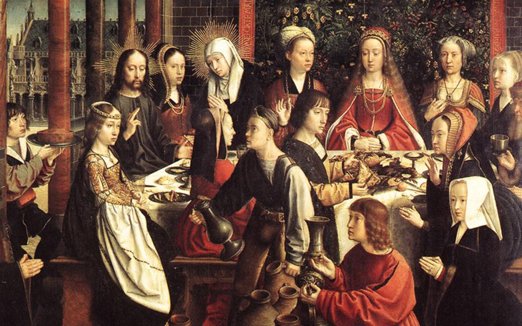 entire family.  Bottom, The Wedding Feast of Cana: Christ made clear his love and support for families and marriages through many  actions, including the miracle at the wedding feast of Cana  (cf. John 2:1-12).