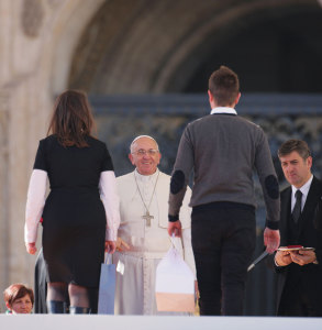 The meeting of Pope Francis with families at the end of the Year of Faith last October 26.