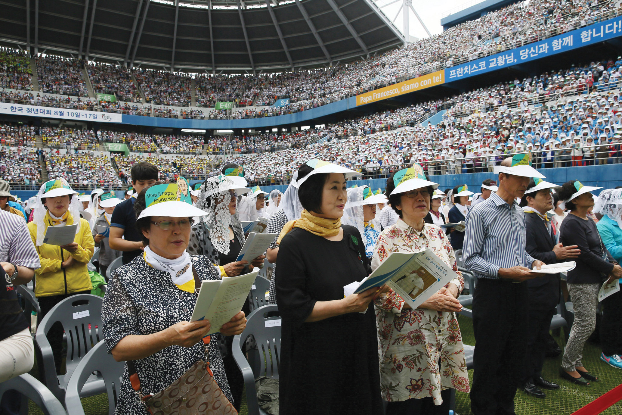In World Cup Stadium during Holy Mass celebrated on the Solemnity of the Assumption of the Blessed Virgin Mary.