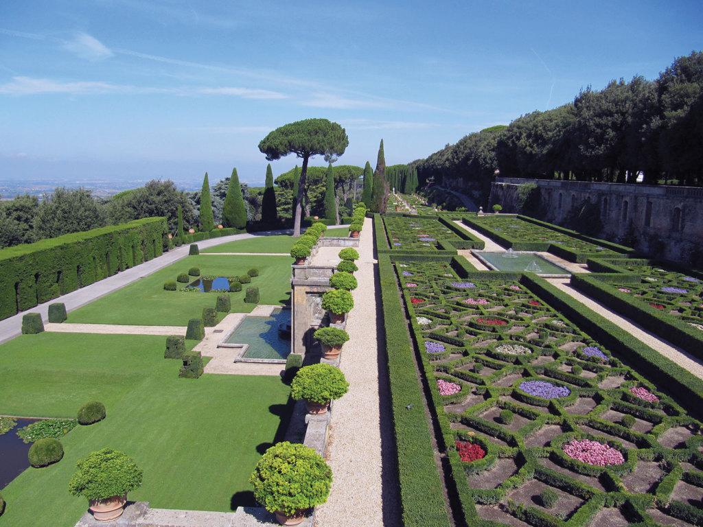 Views of life inside the Papal Villa Castel Gandolfo.