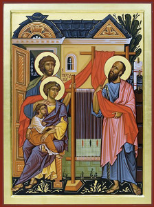 St. Paul visiting the family of Aquila and Priscilla.