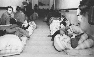 Jews taking refuge during World War II.