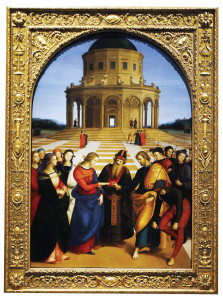 Raphael's masterpiece The Wedding of the Virgin.