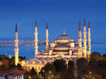 The Blue Mosque in Istanbul.