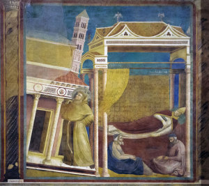 Giotto's fresco of Pope Innocent III dreaming that St Franics is holding up the Church.