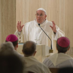 The Pope in Domus Santa Marta.