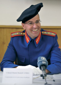 Commandant Anrig in 2011 during a press conference.