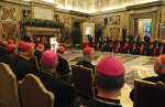Pope Francis and the Curia.