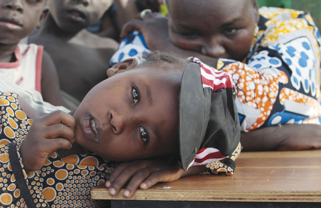 A young girl displaced as a result of Boko Haram's attack in the northeast region if Nigeria.