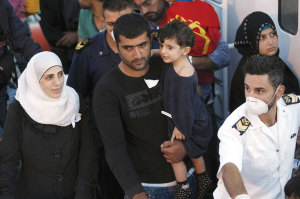 More than 2 million refugees have fled Syria's civil war, with several landing in Italy.