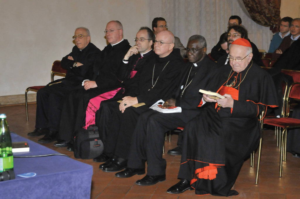 Among the attendees at the presentation were Cardinal Walter Brandmueller, now retired, a German historian who lives in Rome (far right).